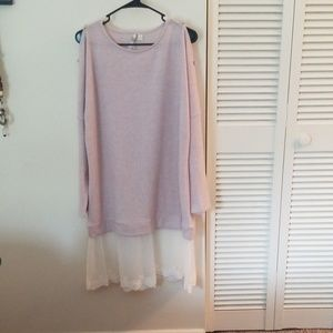Lauren conrad sweater dress with lace detail